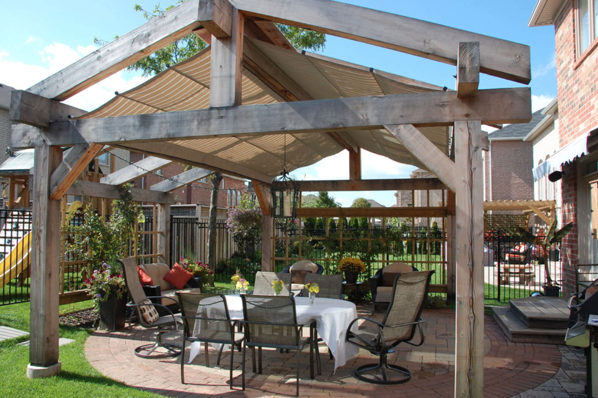 Pitched Retractable Canopy In Oakville Shadefx Canopies