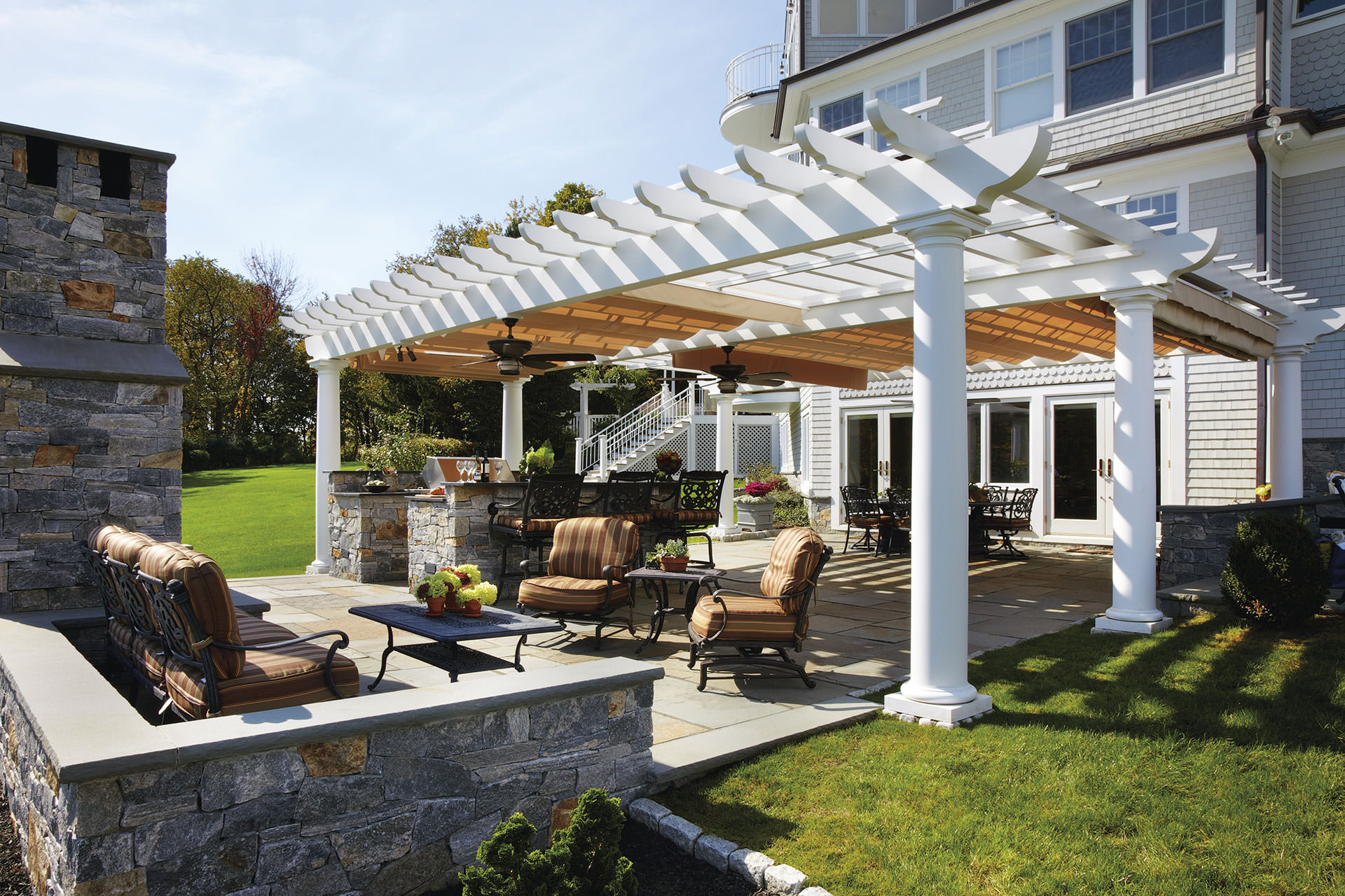 Double Motorized Canopies In Ridgefield Shadefx Canopies
