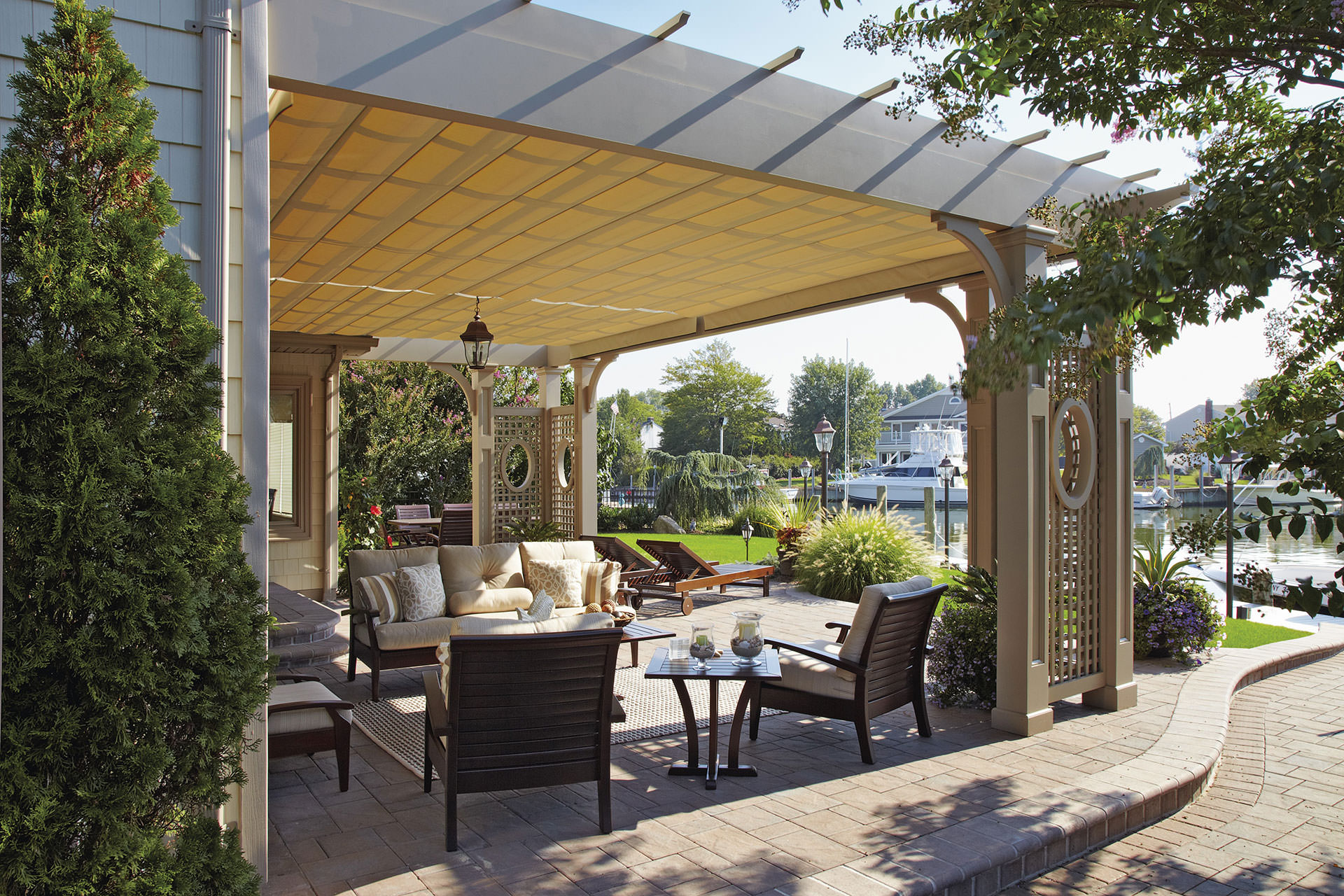 22 awesome pergolas with retractable awnings pixelmari com