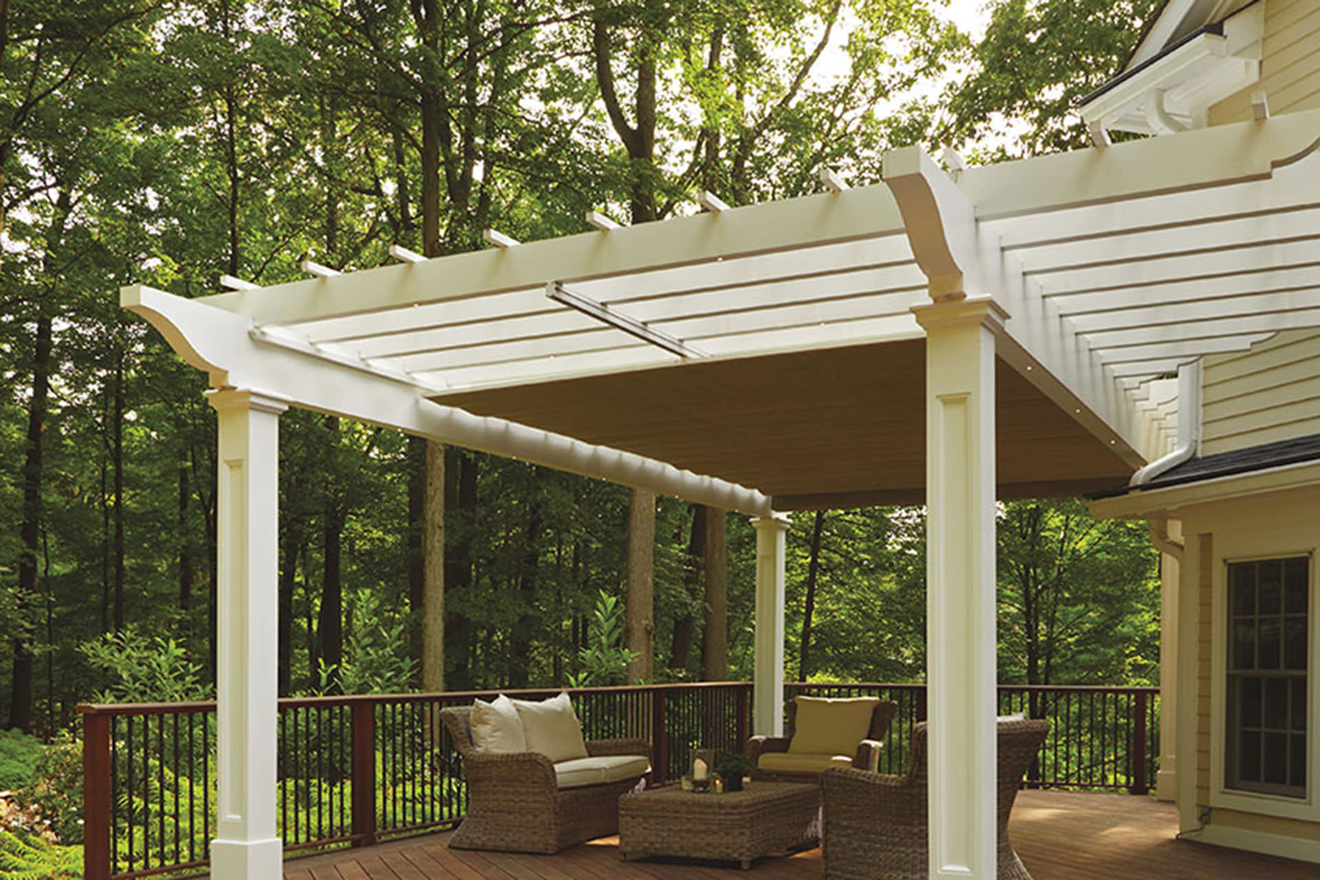 Retractable canopy for pergola - Retractable Canopy For Pergola 2