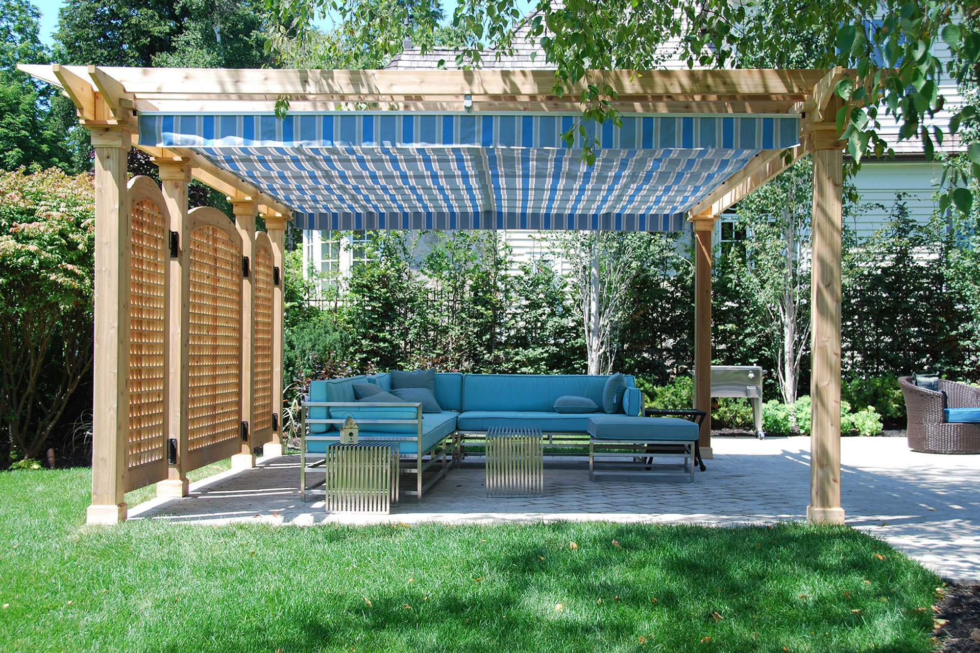 Pergolas pergola canopy and retractable pergola on pinterest - Waterdichte pergola cover ...