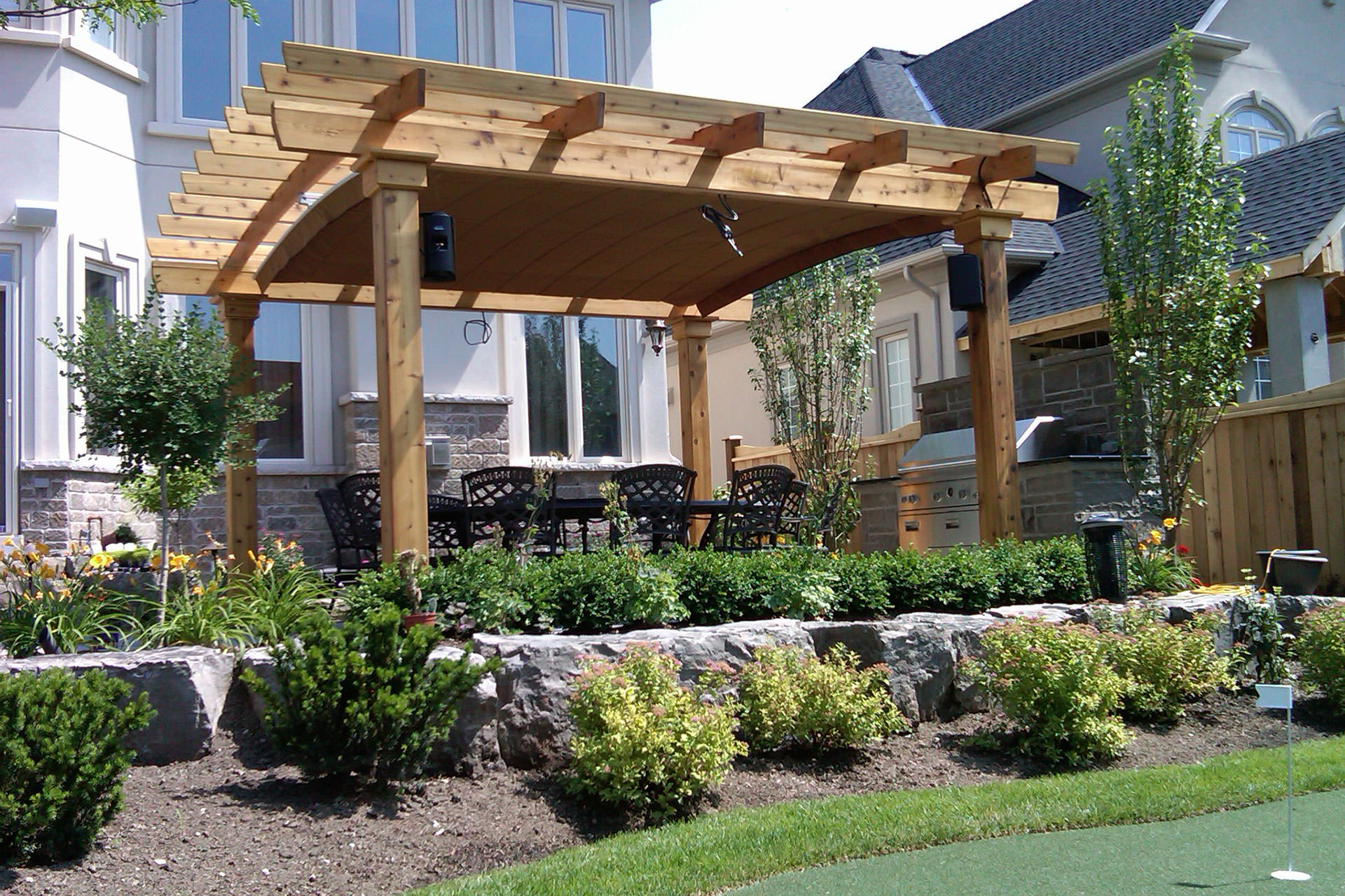 Arched Pergola Canopy