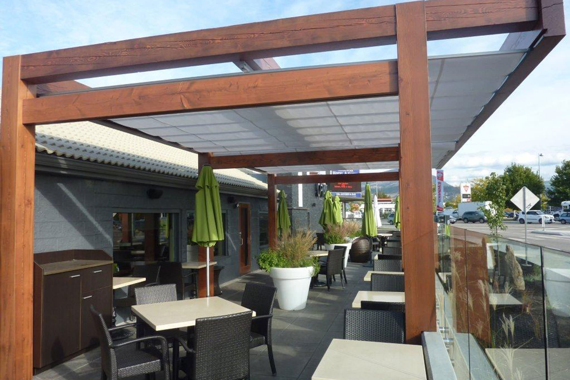 Cantilevered Retractable Canopy