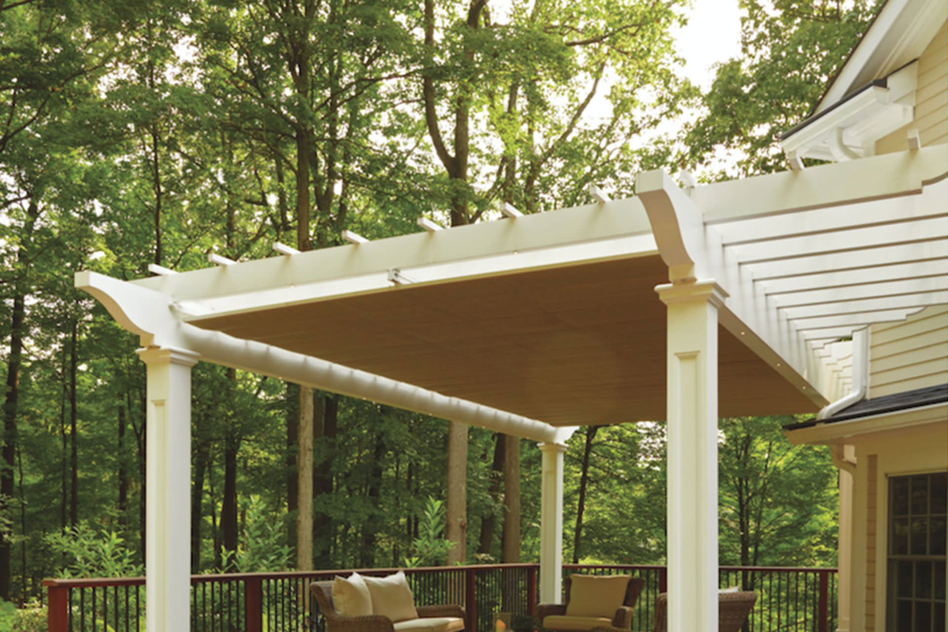 Pergola design attached freestanding or hybrid for Pergola designs
