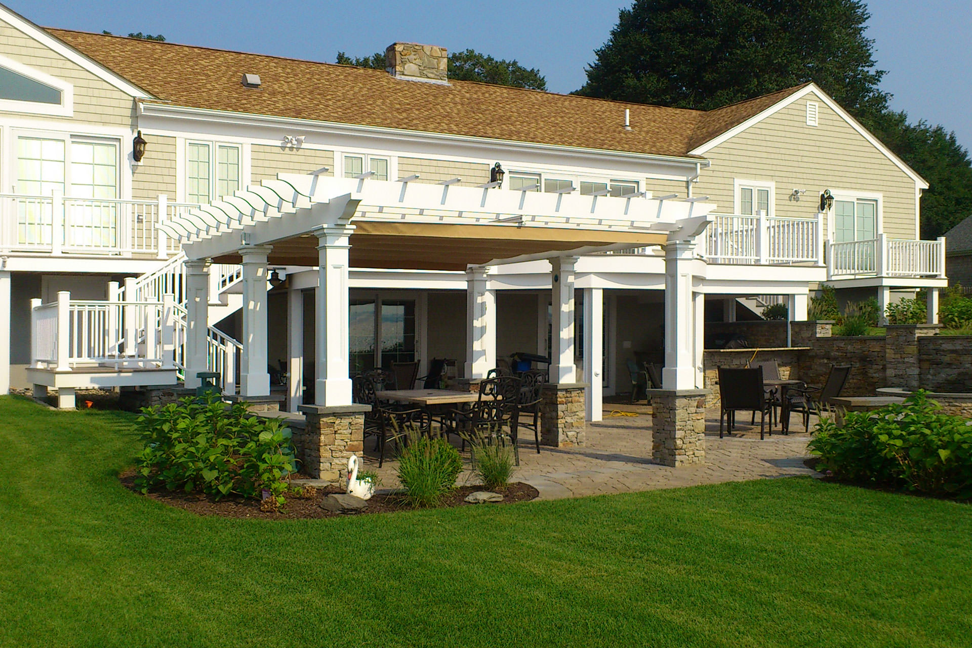 Pergola Design with Custom Canopy