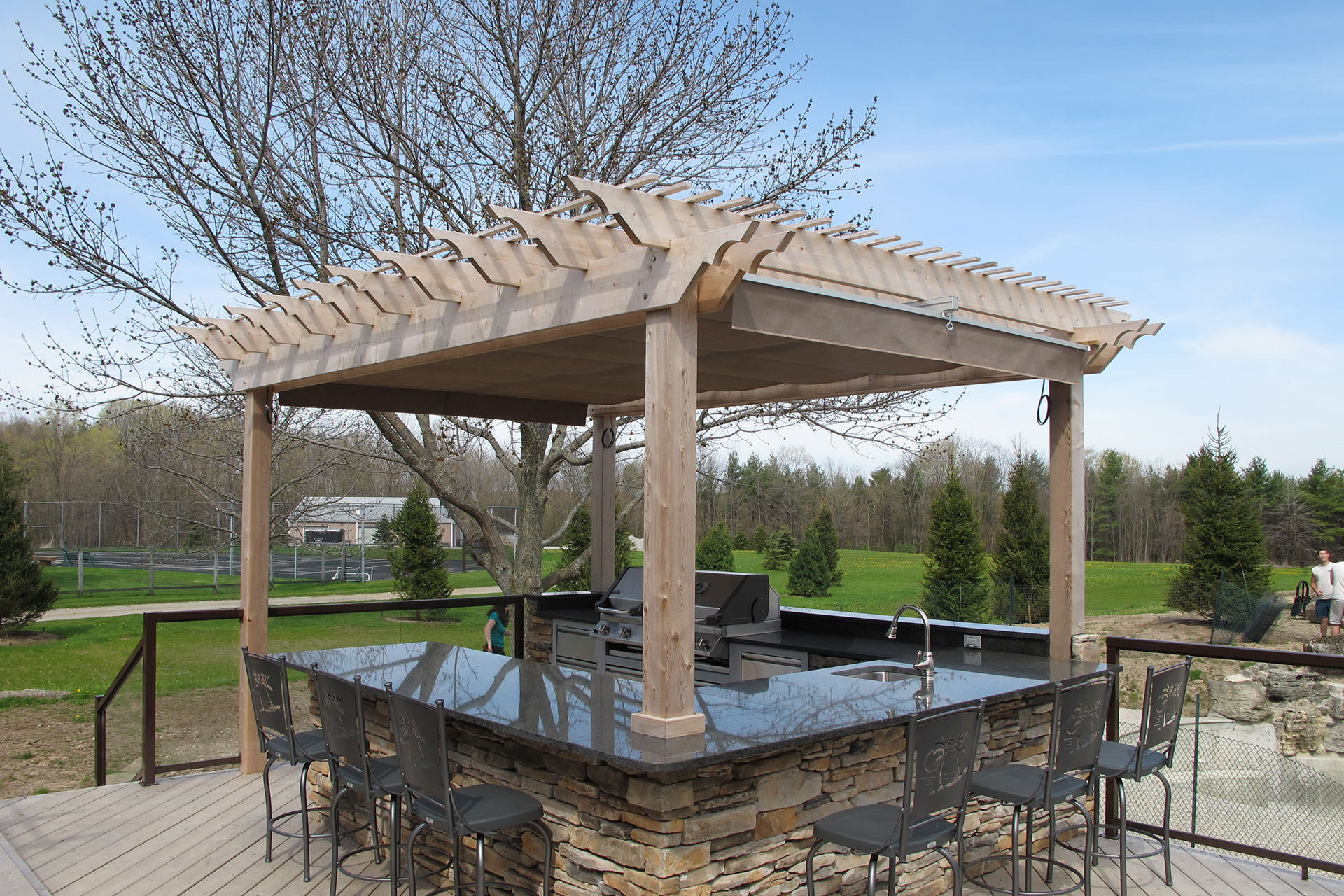 outdoor kitchen pergola weatherproof outdoor kitchen pergola cover steps to designing the ultimate