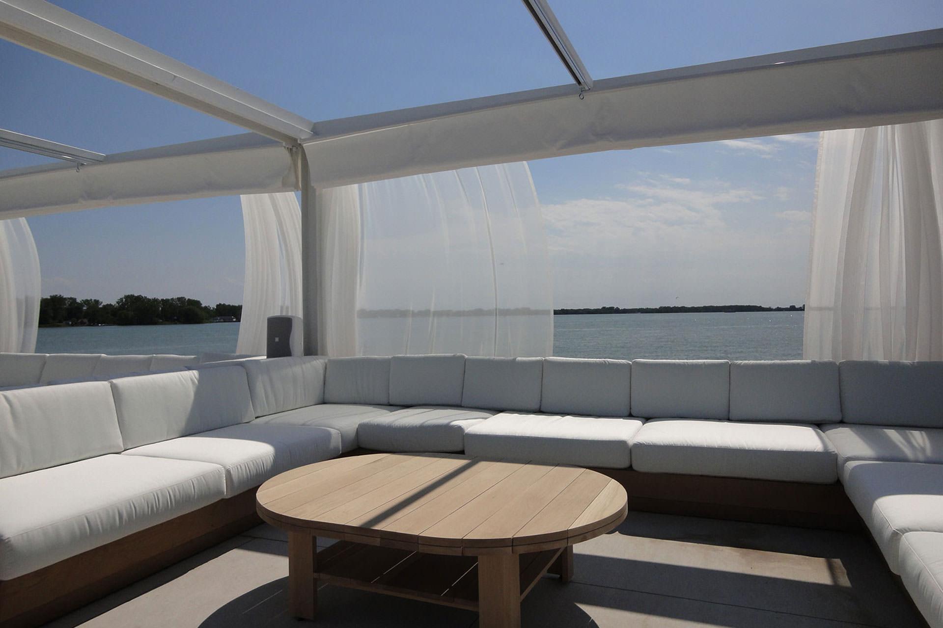 & Retractable Canopies at Cabana Pool Bar | ShadeFX Canopies
