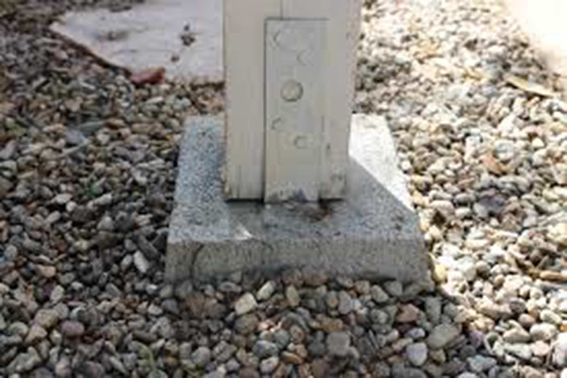 Pergola Mounting Cement Footing