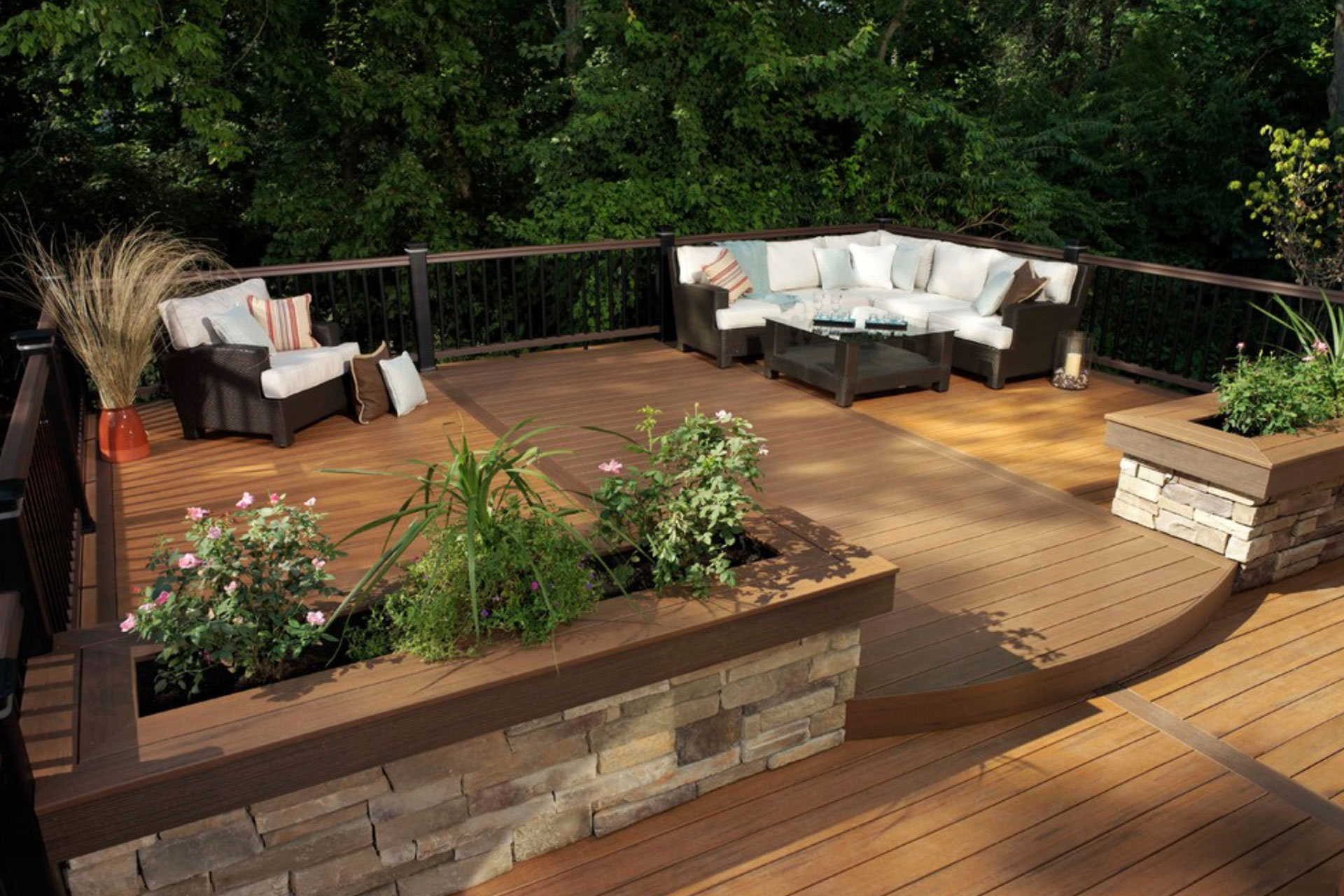 Wood composite or pvc a guide to choosing deck materials for Synthetic deck material