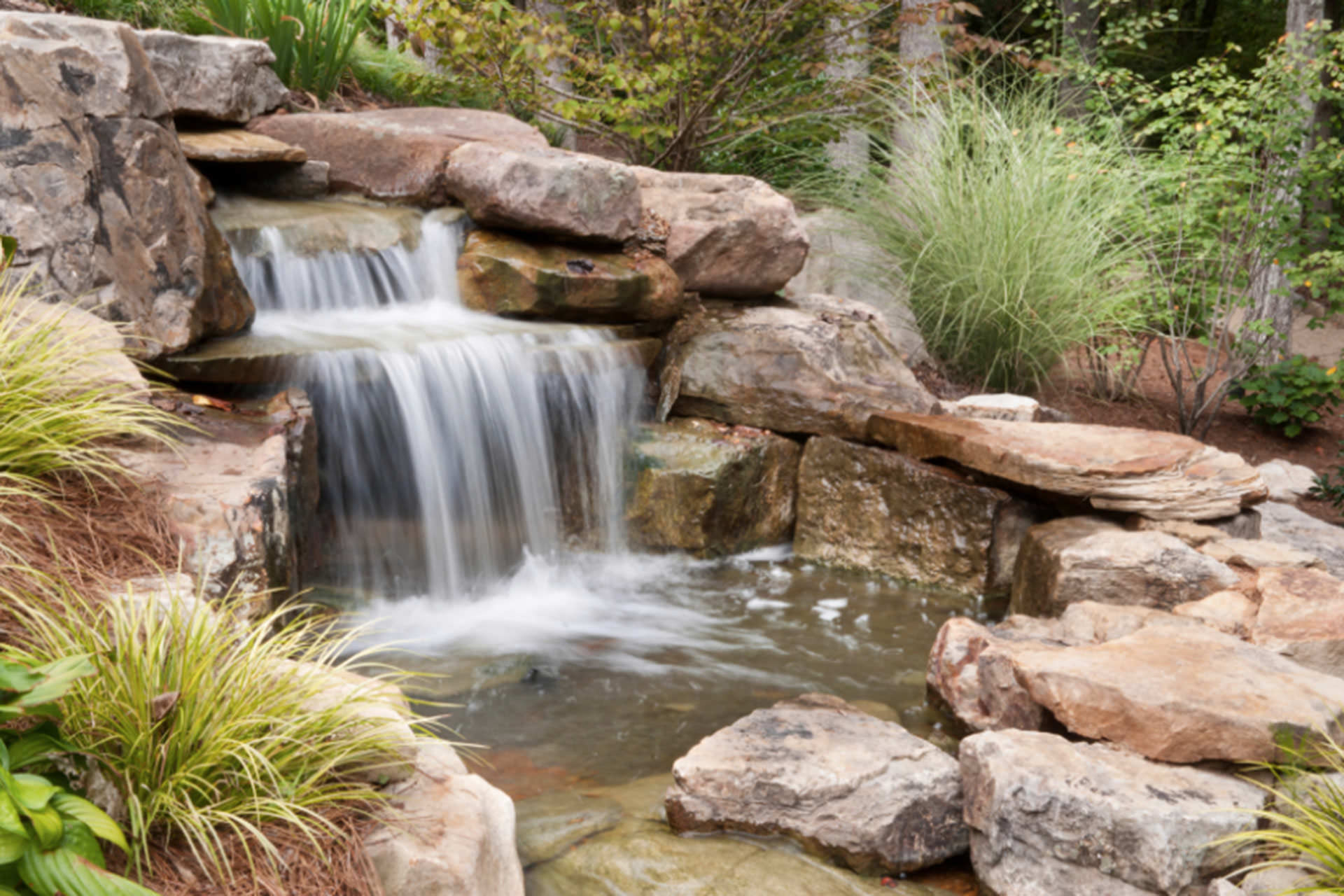 Fall Outdoor Space Water Feature
