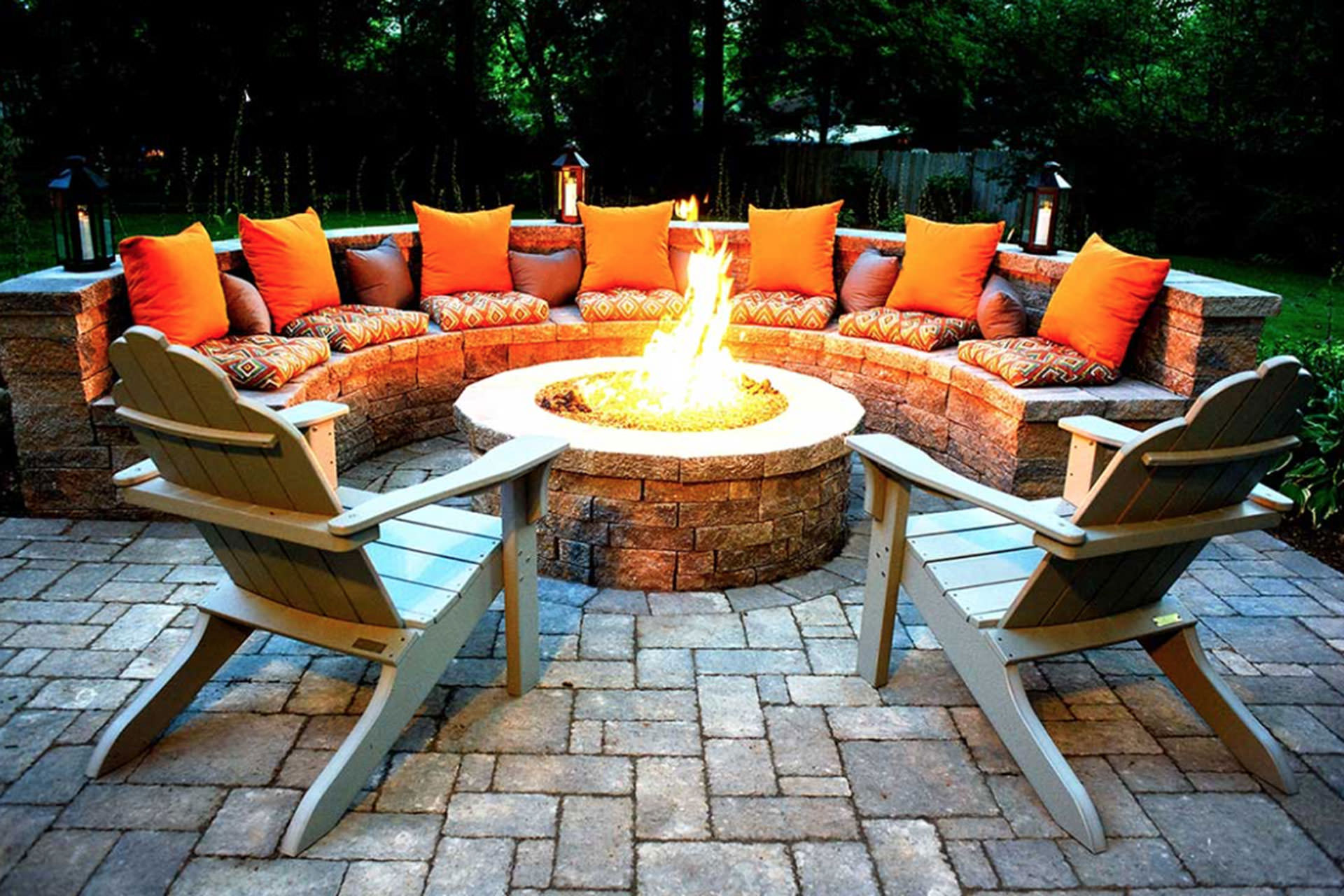 Fall Outdoor Spaces Fireplace