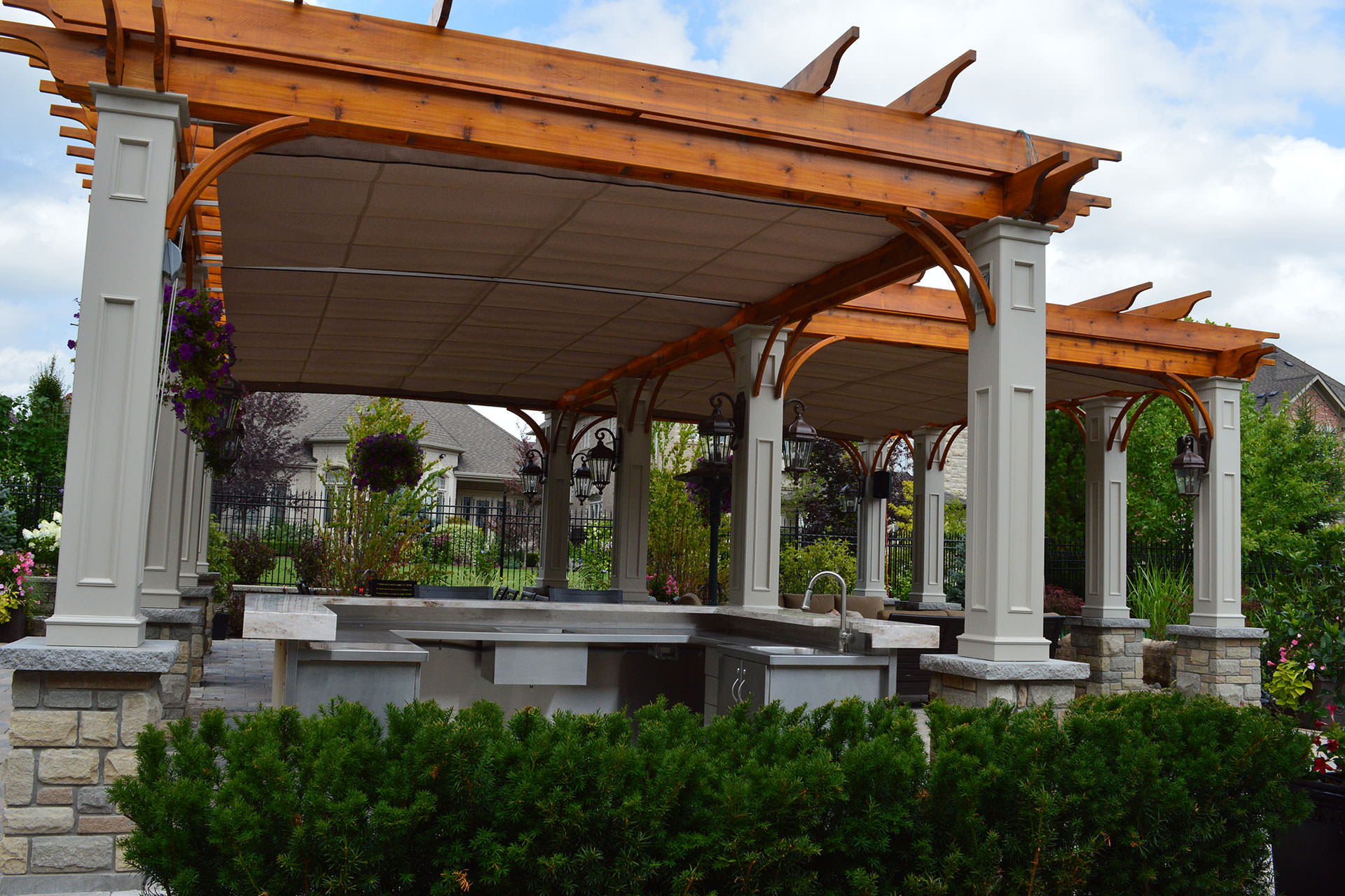 We Were Contacted In The Early Stages Of Pergola Planning To Ensure That  This Pergola Was Designed To Perfectly Integrate Our Retractable Canopies  ...
