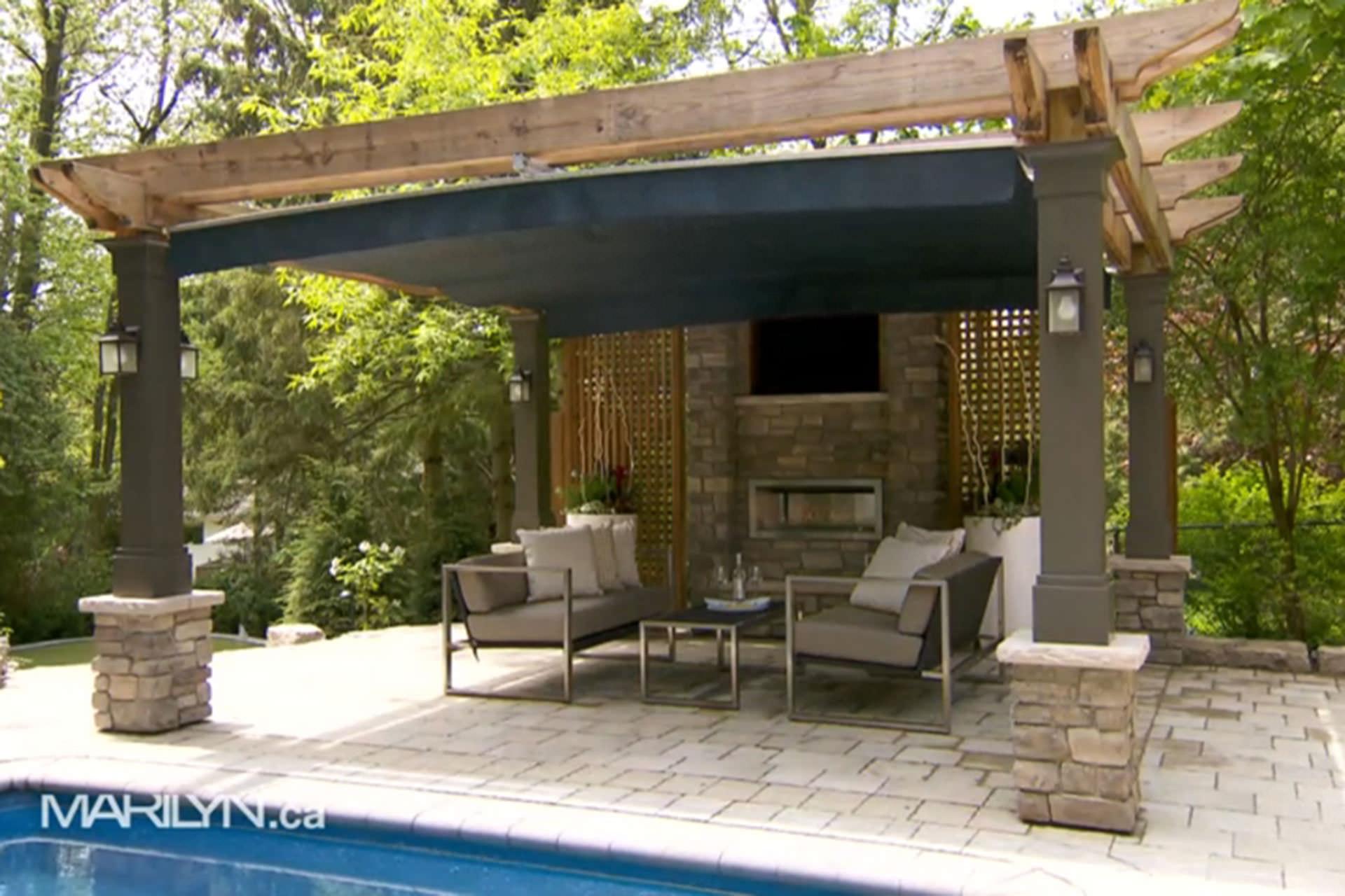 Outdoor Fabrics Retractable Canopy