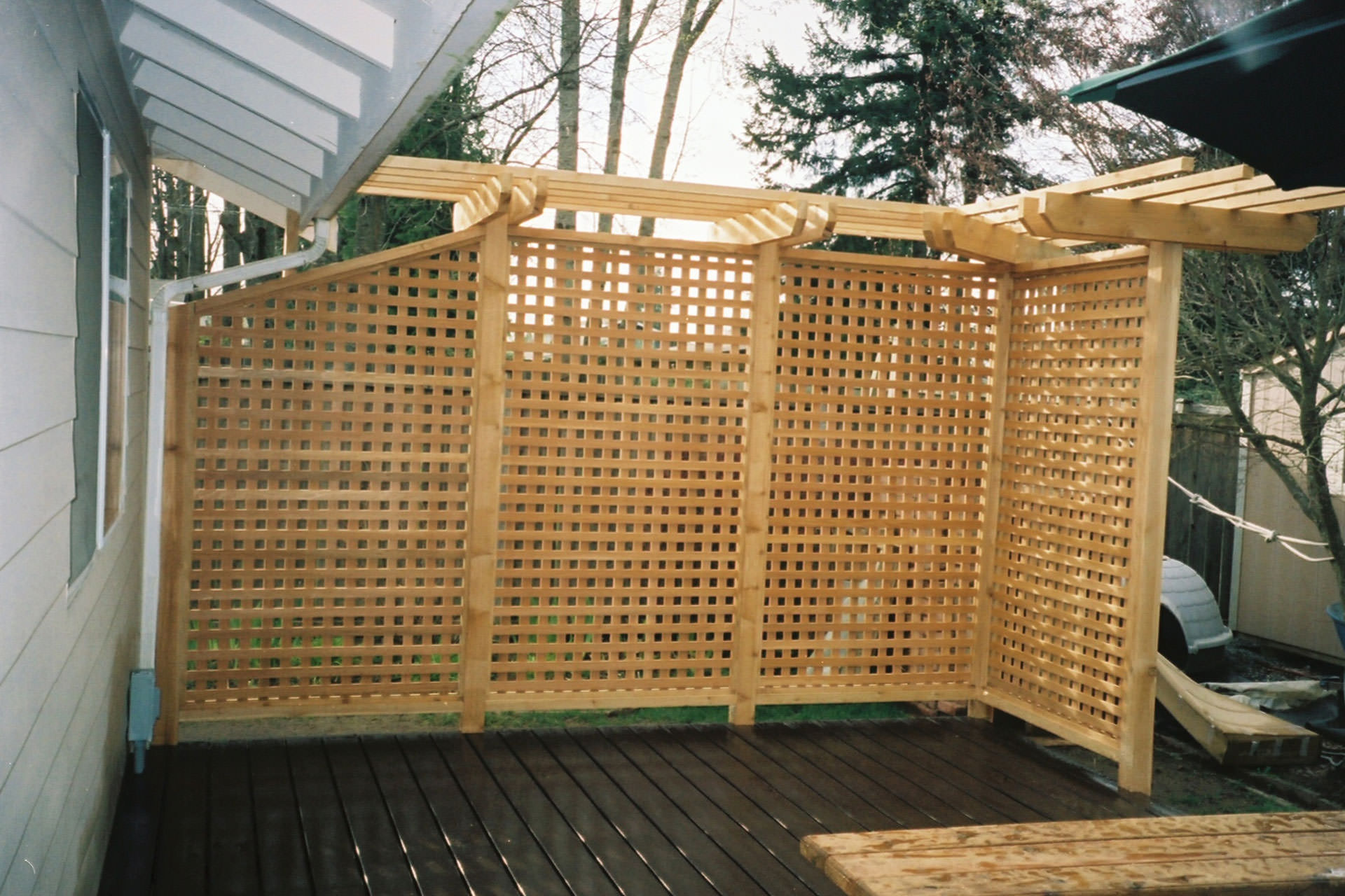 Patio Shade Ideas Lattice