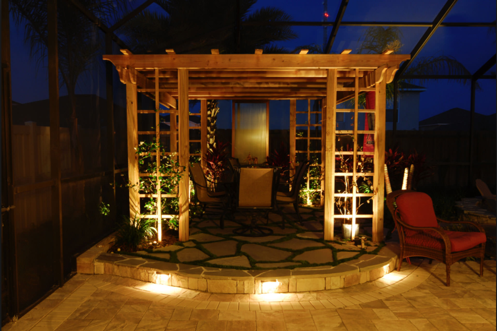 Built In Pergola Lighting Ideas