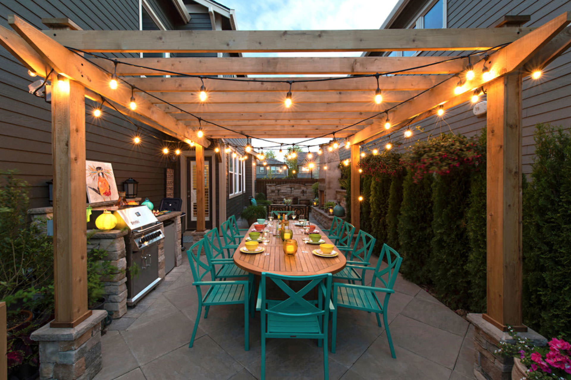 patio lights on pergola style