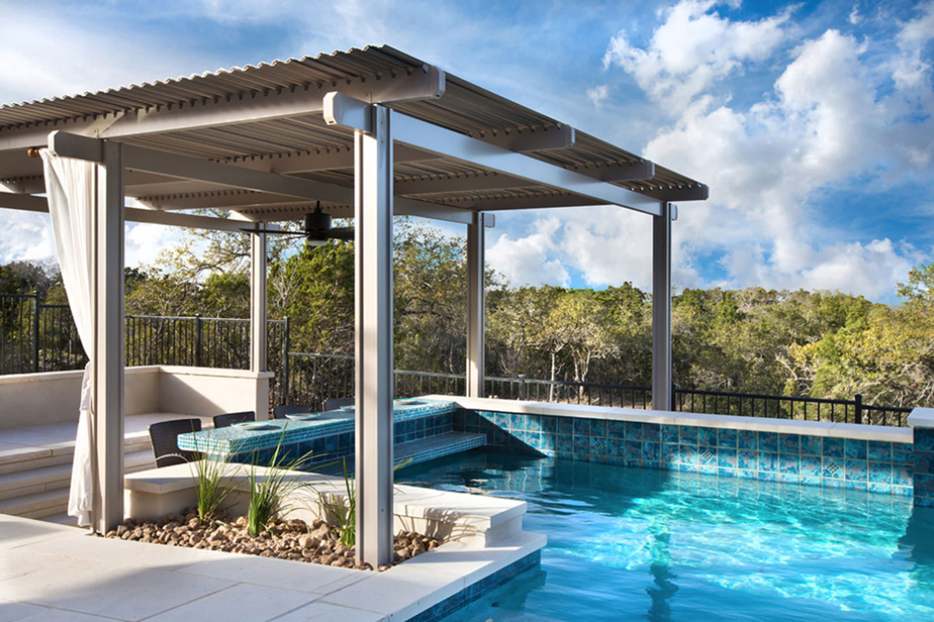 Pool Shade Ideas: 8 Ways to Cover Your Swimming Pool on Covered Pool Patio Ideas id=63765