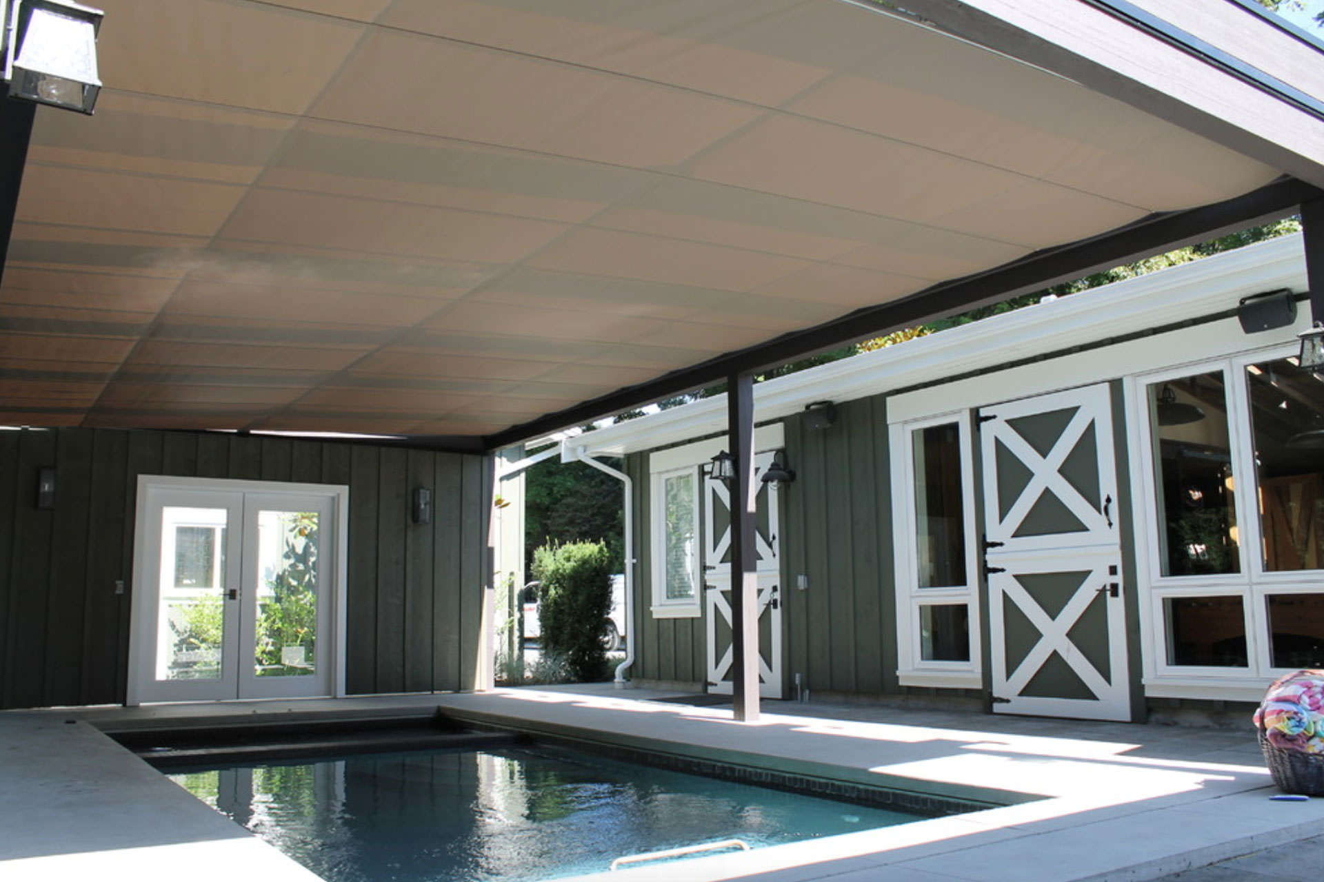 retractable shade canopies - U Shape Canopy 2015