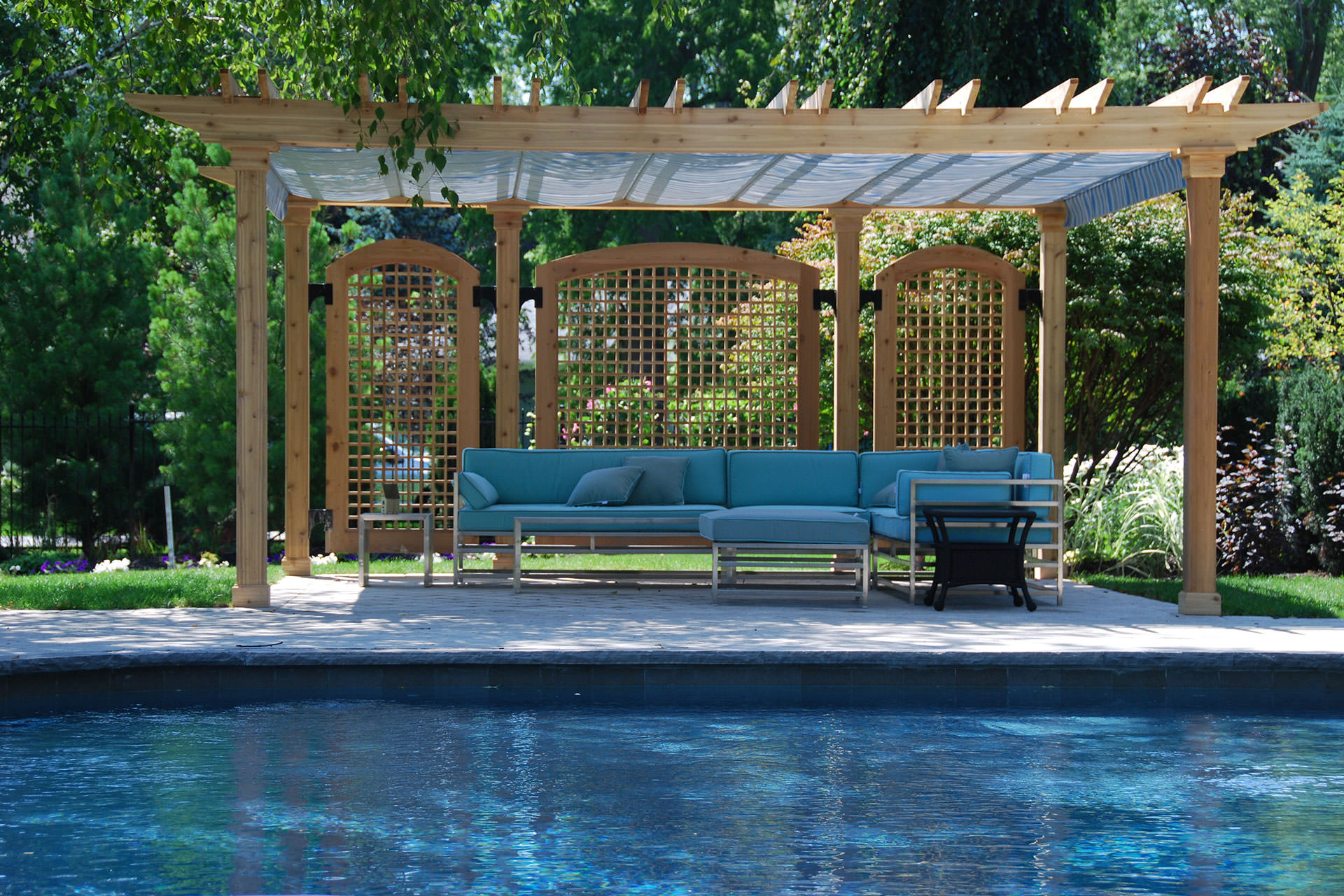 pool shade ideas: 7 ways to cover your swimming pool - Cheap Patio Shade Ideas