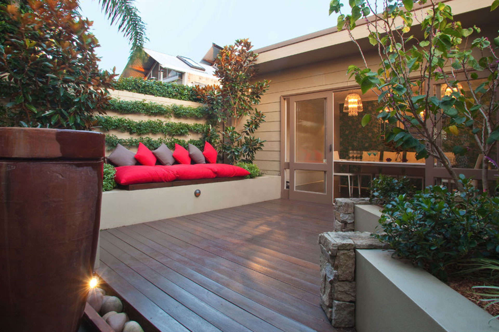 5 ideas for making a big impact in a small outdoor space for Small outdoor patio areas
