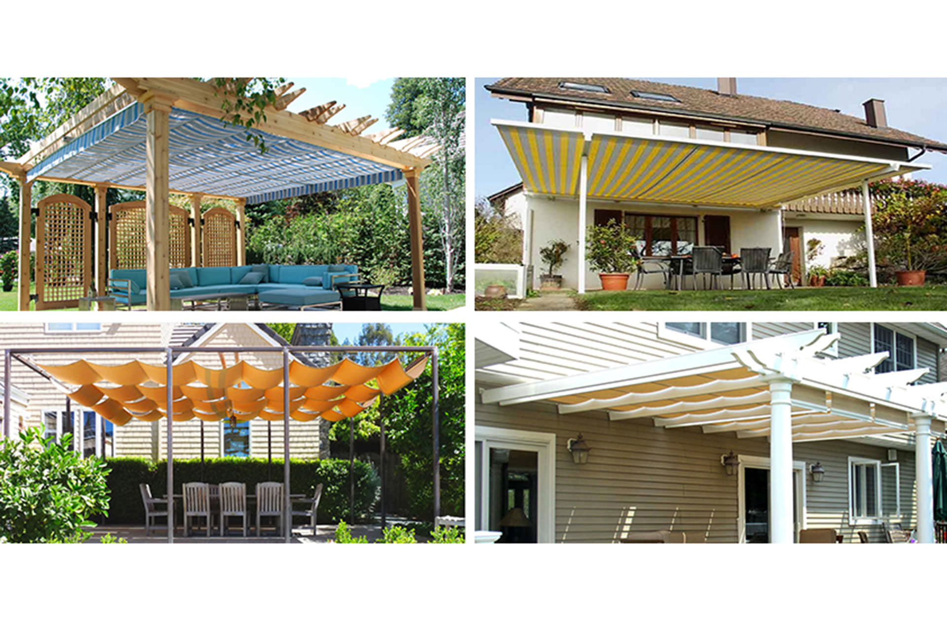 choosing a retractable canopy track: single, multi, cable, or roll?