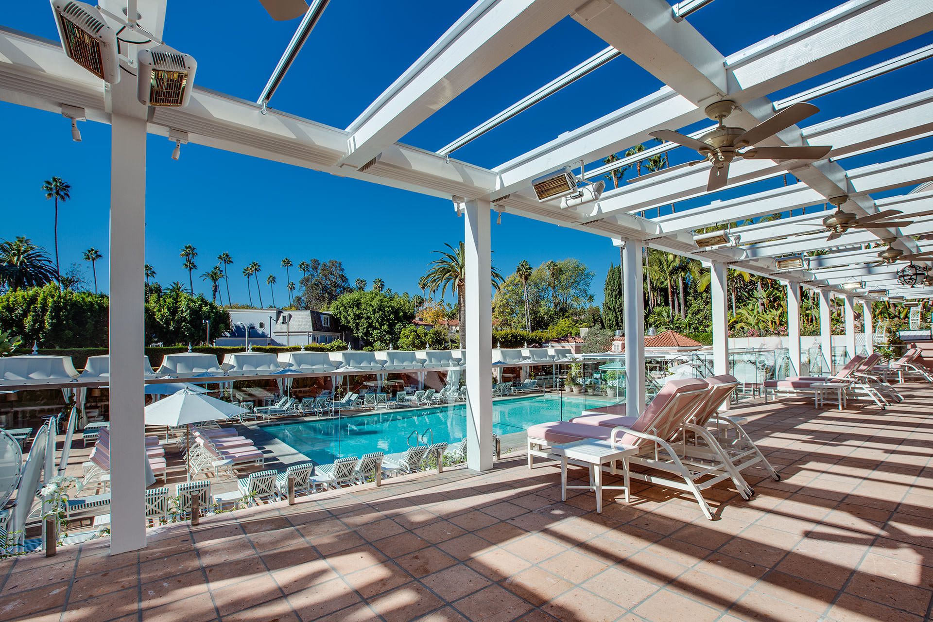 Retractable Canopies At The Beverly Hills Hotel Shadefx