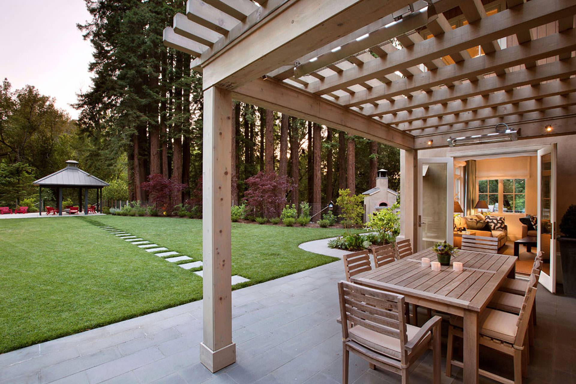 Attached Pergola