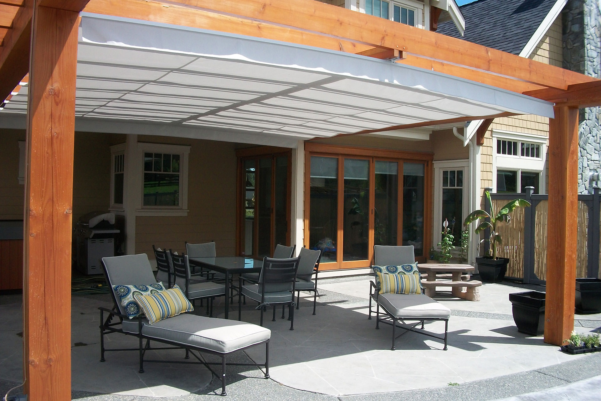 Gimme Shelter Shadefx Retractable Canopy Good Choices Of Retractable Pergola Shade