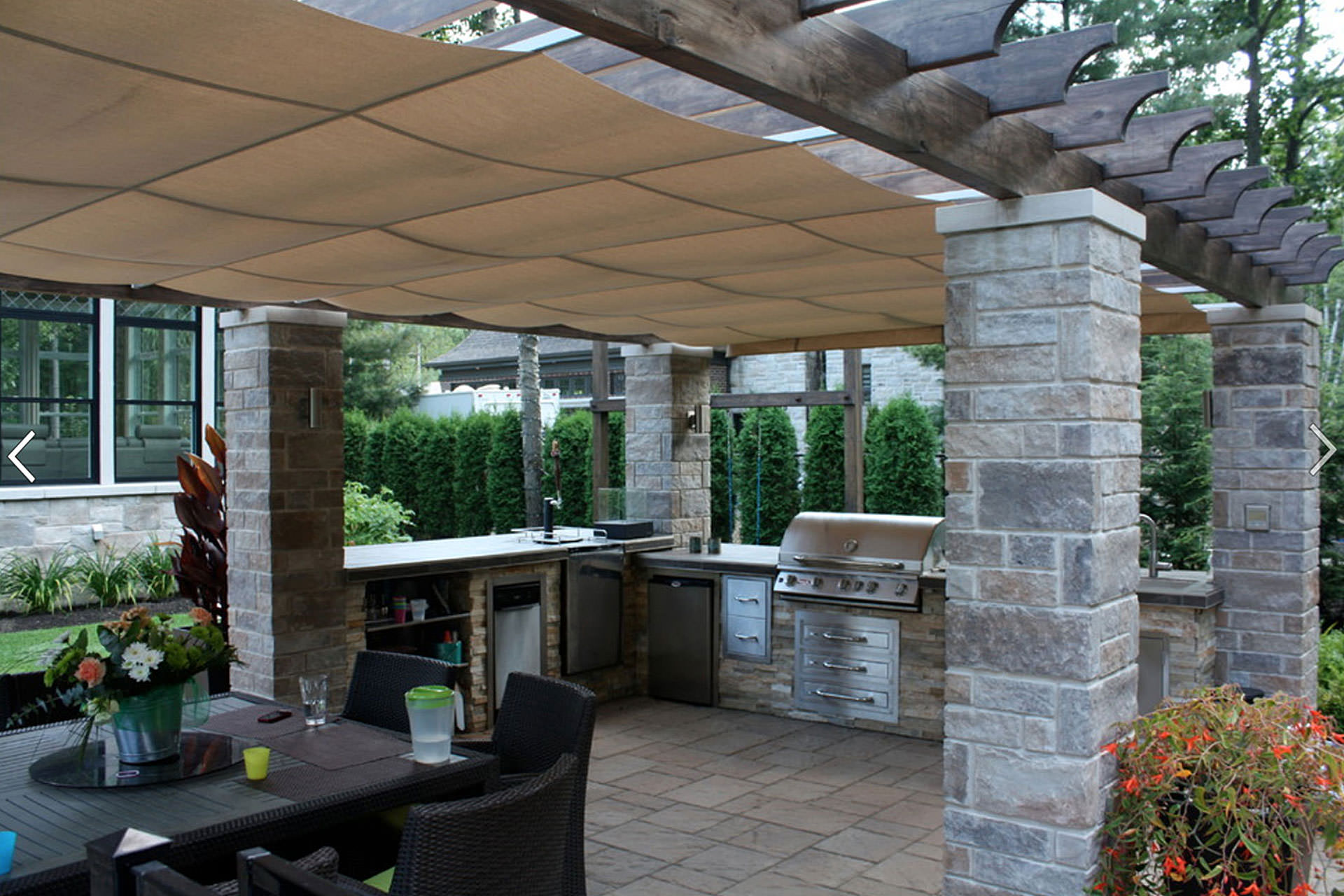Gimme shelter the shadefx retractable canopy - Pergola with roof ...