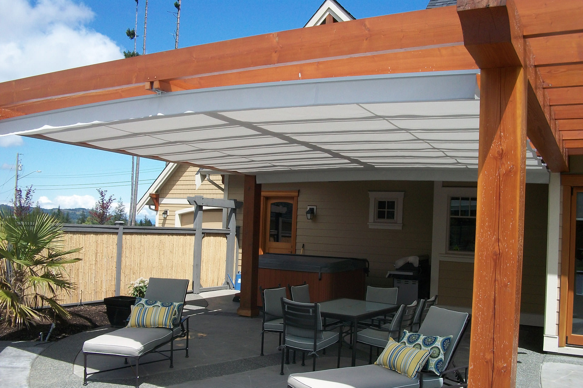 & Staying On Track - Retractable Canopy Track Systems