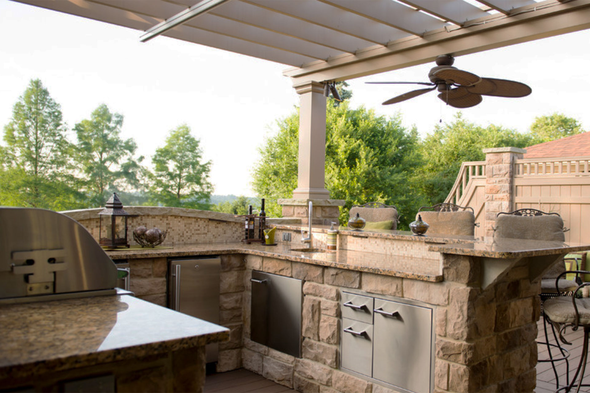 Outdoor Kitchen Covers in South Hills | ShadeFX Canopies