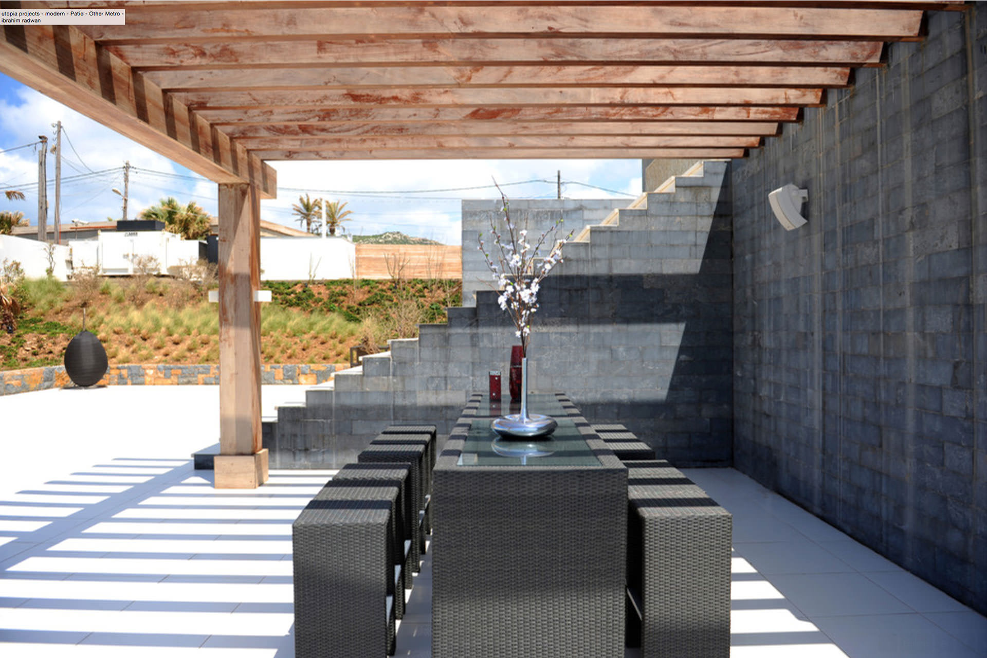 Contemporary Outdoor Dining