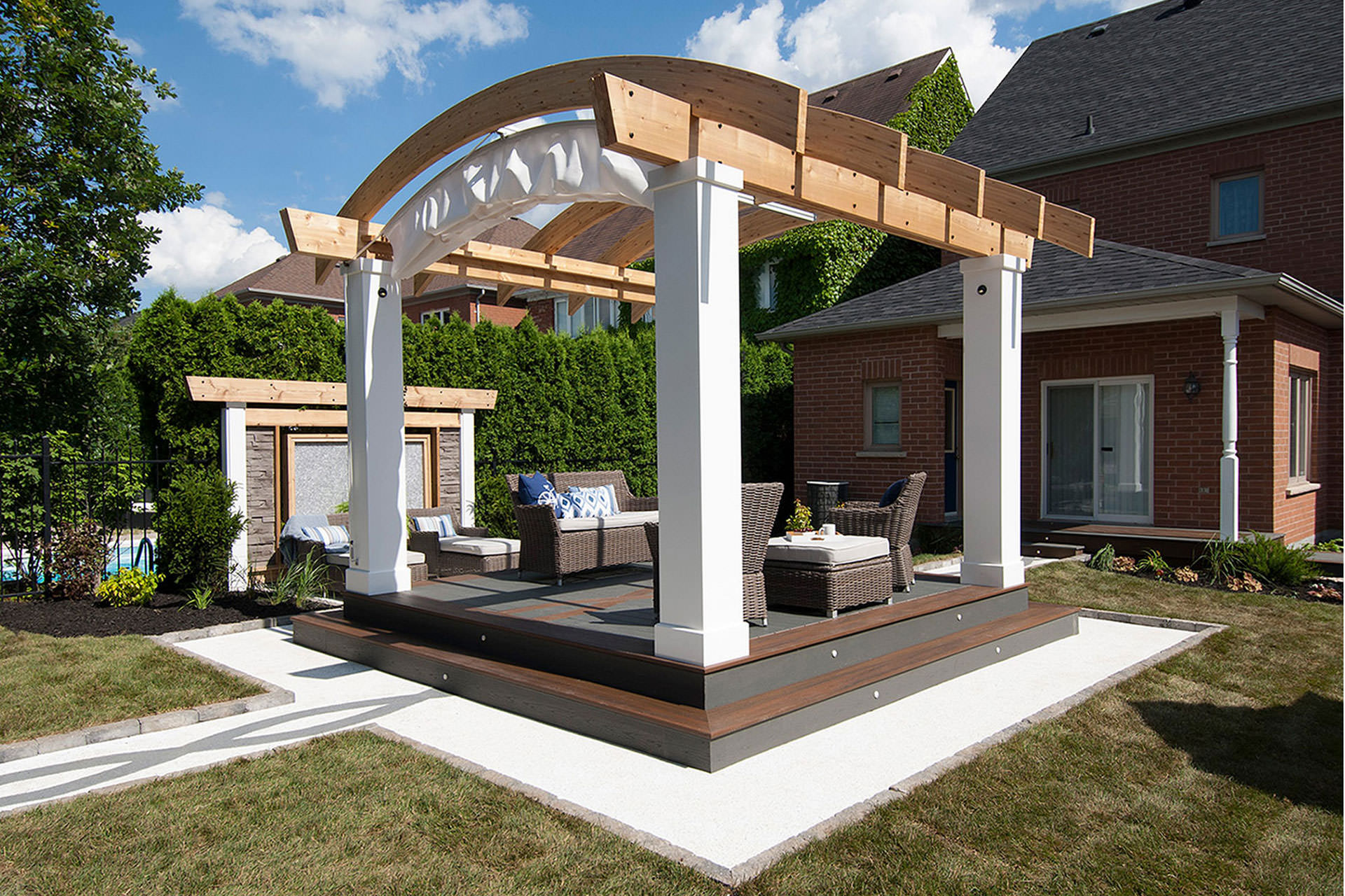 Arched Retractable Awning Hgtv S Decked Out