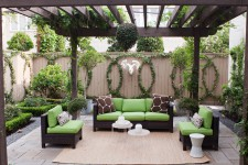 create an eco-friendly outdoor space