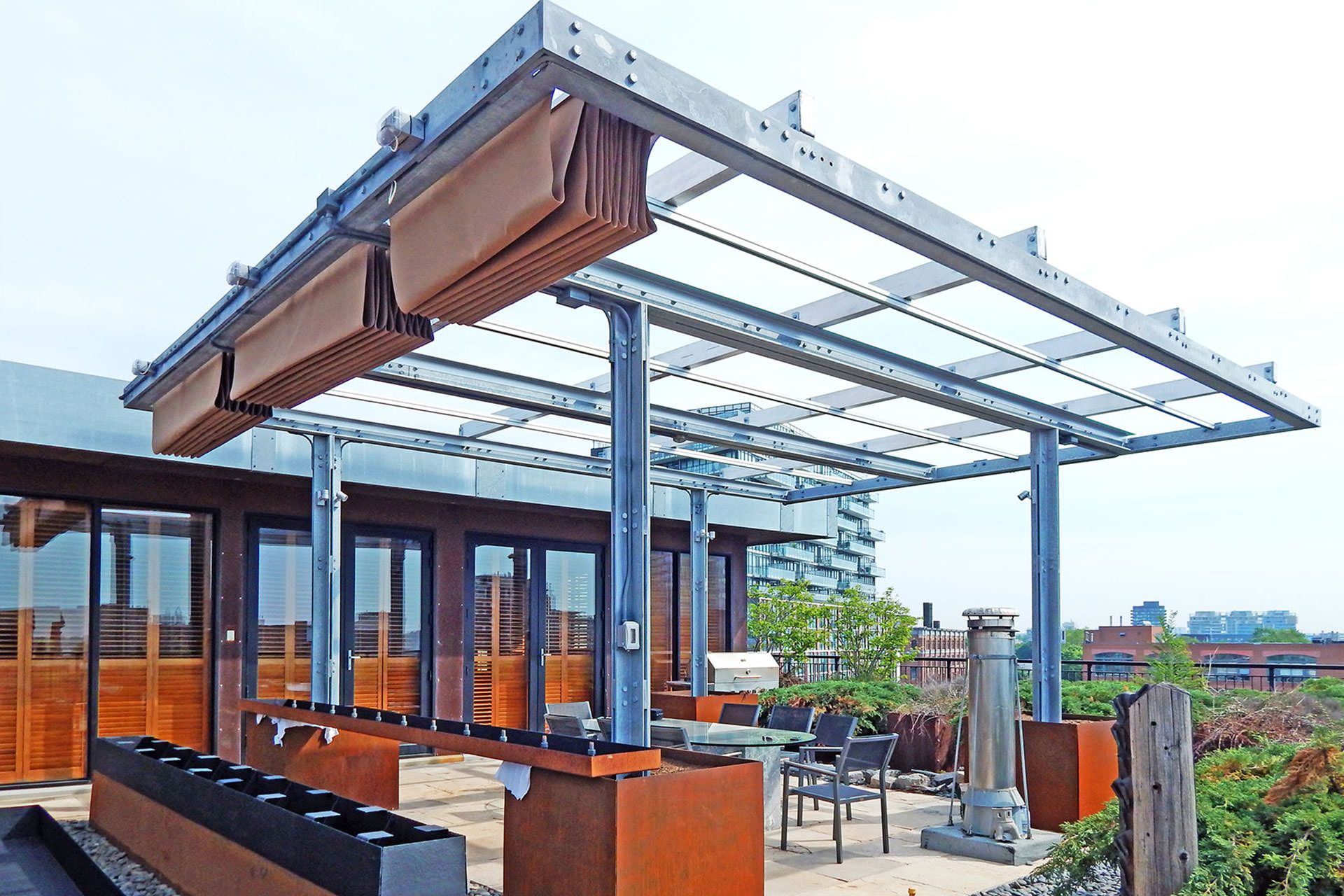 Rooftop Patio Canopies Shadefx Canopies