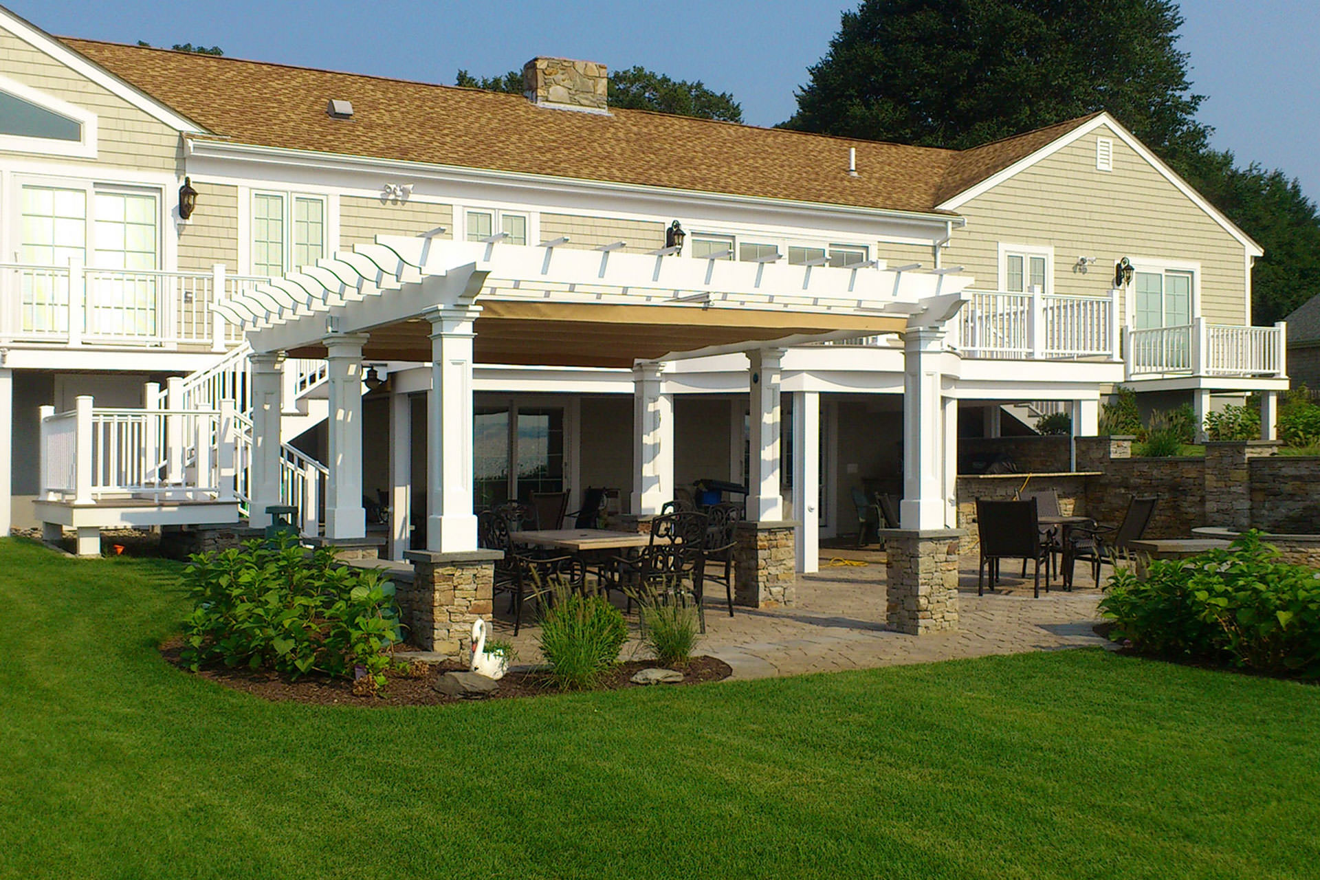 Pergola Cover In Rhode Island Shadefx Canopies