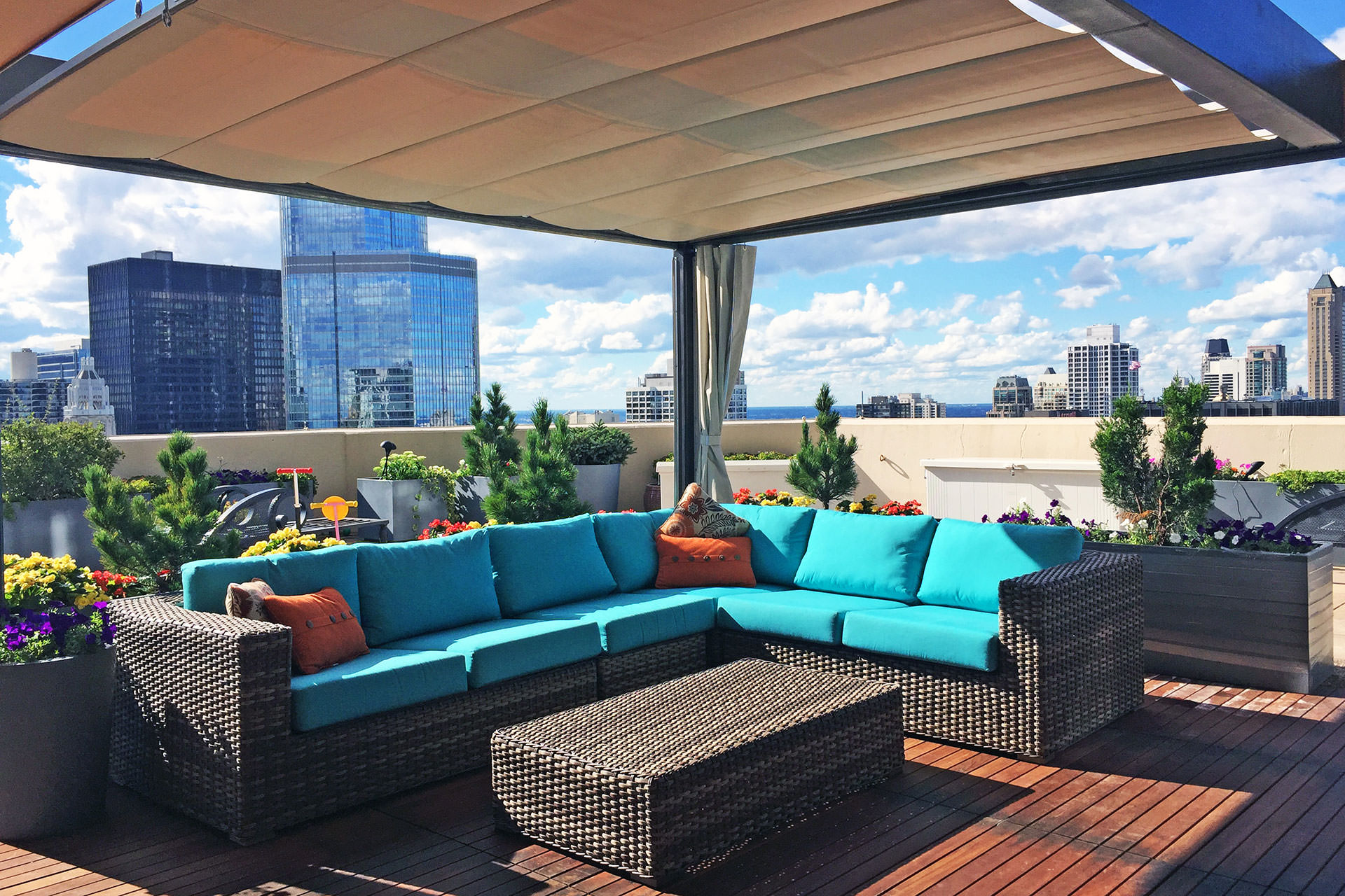 Rooftop Patio Covers Chicago ShadeFX