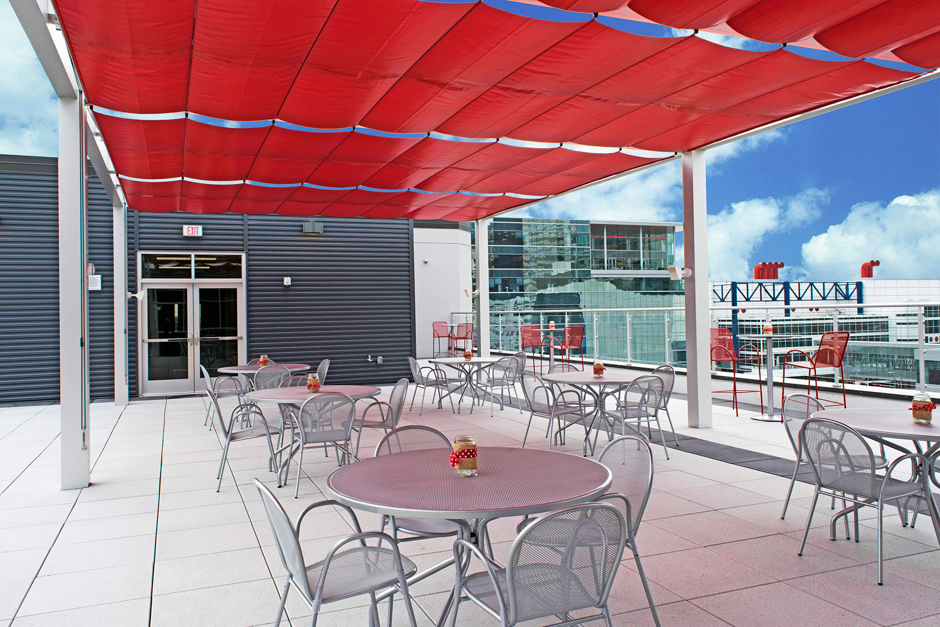 Incarnate Word Academy Rooftop Patio Shadefx