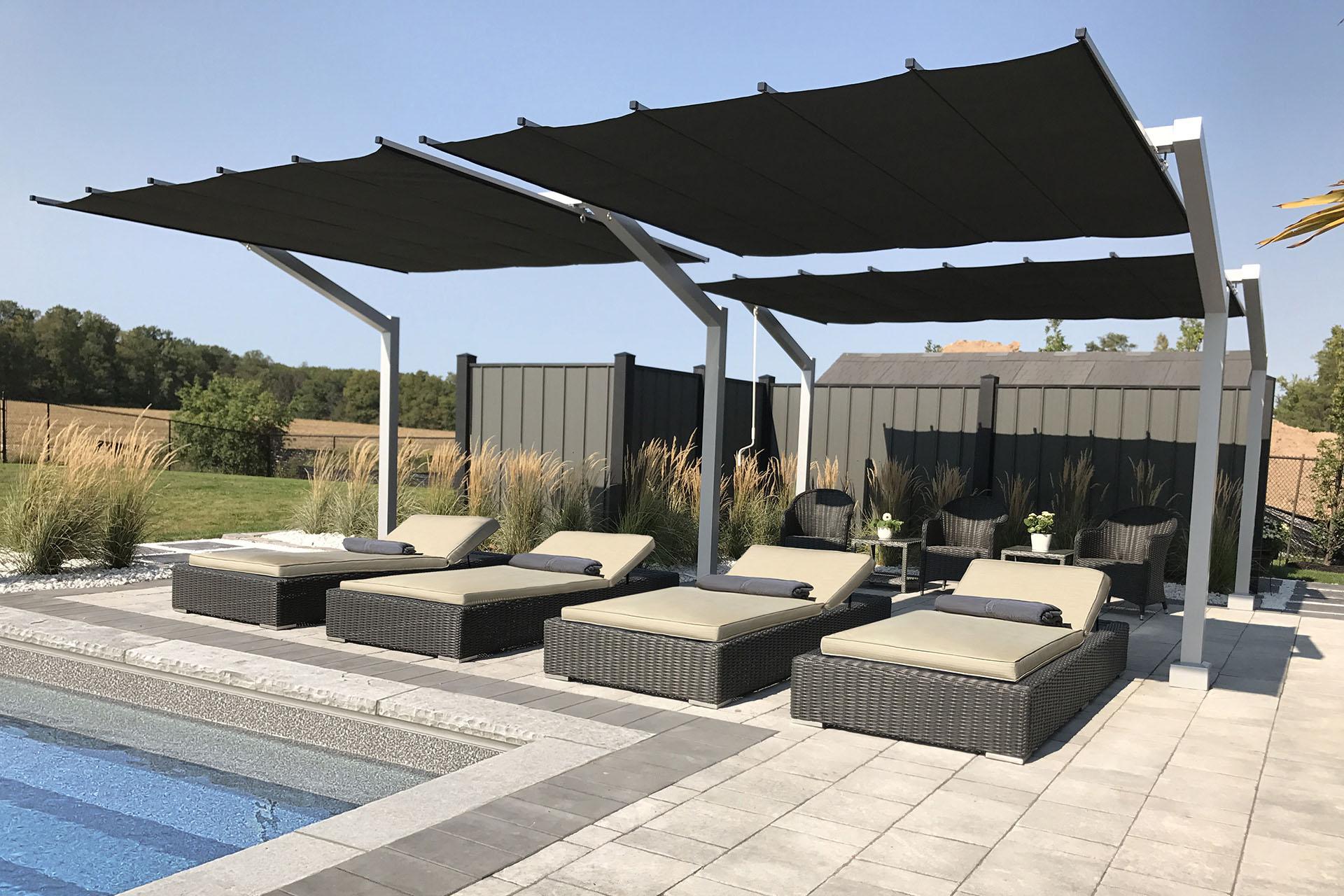 Freestanding Retractable Canopy, Milton - ShadeFX