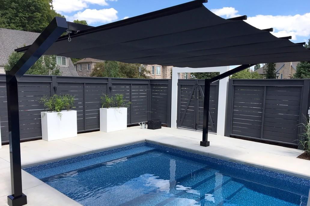 freestanding retractable canopy